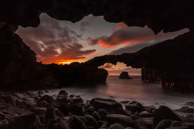 La entrada secreta al volcan