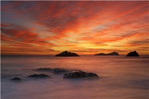Amanecer , Aguas Blancas , Ibiza .