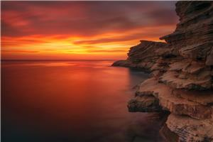 Atardecer , Punta de Sa Galera , Ibiza .