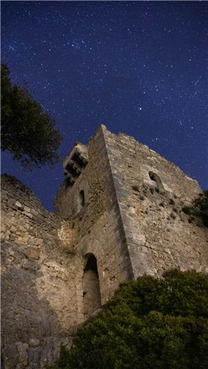 """""""Costipador"""" del Castell d'Alaró de nit"""